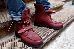 Ranger Boots, the one of the most classic boots to ever have been released by Polo Ralph Lauren, got a remix by New York designer Ronnie Fieg. The boots come in a dark burnt red (burgundy) premium … Me Too Shoes, Men's Shoes, Shoe Boots, Dress Shoes, Shoes Men, Ralph Lauren Boots, Polo Ralph Lauren, Polo Boots Men, Tartan Men