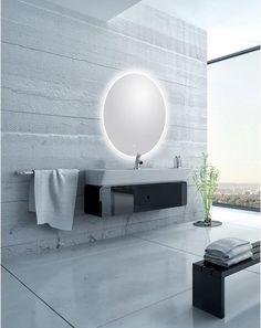 Miroir Lumineux Avec Eclairage Integre L 120 X H 120 Cm Renzo Leroy Merlin Miroir Lumineux Miroir Salle De Bain Miroir Salle De Bain Led