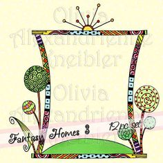Fantasy Homes 3 Downloadable Clip Art Personal and by atelieroz