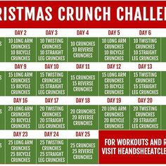 Starts tomorrow!  Who's in? Tag a friend for accountability.  Add this short challenge onto the end of your workouts each day. This challenge is to strengthen your core. Strengthening your core is about more than appearance, it's about helping to prevent injury as well.  Follow us on snapchat (under hesheeatclean) & I'll try to remember to post videos of the exercises.  ---- Get more info at direct link in profile or go to http://www.heandsheeatclean.com/blog/christmas-crunch-ab-cha