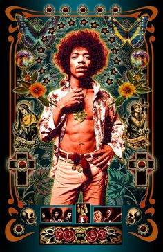 Jimi Hendrix - Special March Madness Two-for-One Sale! Music Collage, Music Artwork, Digital Collage, Rock And Roll, Jimi Hendrix Poster, Metallica, Heavy Metal, Johnny Depp, Vintage Music Posters