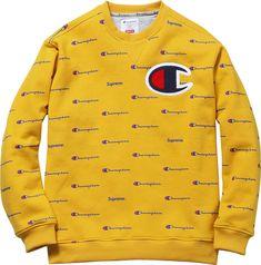 The Crazy Range of Supreme's Brand Collaborations - Rackedclockmenumore-arrownoyes : Clothing Logo, Mens Clothing Styles, Mens Sweatshirts, Mens Tees, Champion Clothing, Champion Shoes, Champion Brand, Streetwear Shorts, Streetwear Fashion