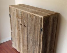 Recycled Wood Cabinet Large Wood Storage by TRUECONNECTION on Etsy