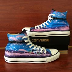 36 Best Beautiful Galaxy Shoes Hand Painted Converse images  106dee304