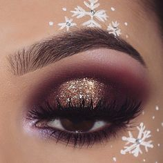 Love the eyeshadow. Not so much the snowflakes.