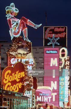 Vintage shot of the old casino neon signs, glitter gulch, downtown las vegas. Vintage Neon Signs, Old Neon Signs, Old Vegas, Pompe A Essence, Las Vegas Nevada, Las Vegas Sign, Fremont Street, Las Vegas Strip, Rodeo Life