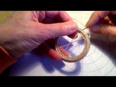 ▶ Pine needle coiling Diamond stitch - YouTube