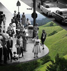 Colagens de fotos antigas as tornam em imagens mais alegres IDEAGRID _11