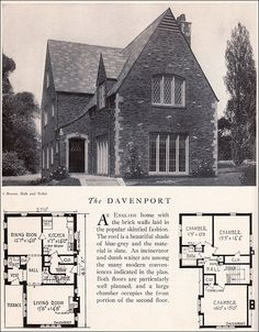 1929 Home Builders Catalog - The Davenport    I was just looking at this plan and now I want the front bedroom. I love the windows. To see more from the Home Builders Catalog,