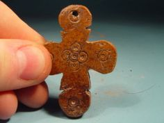 Bone Saxon Medieval Decorated Cross 1200AD