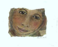 Kim Henkel – Face on a Tea Bag