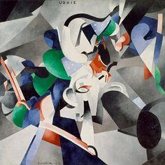 """TIMETOAST 9: """"Udnie, (Titres attribués: Jeune fille américaine; Danse)"""" (1913) by Francis Picabia."""