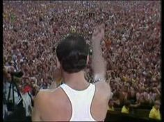 Legendary! Queen live in 1985 at Live Aid in London... there will never be another Freddie Mercury!