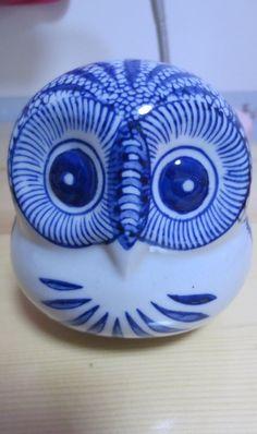 Blue & White Owl