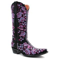 "Old Gringo 13"" Sterling Boot in Black and Purple at Maverick Western Wear"