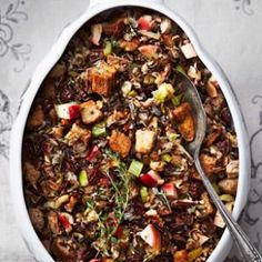 Wild Rice Stuffing with Apple & Sausage Recipe | Eating Well Dec. 2012 issue.
