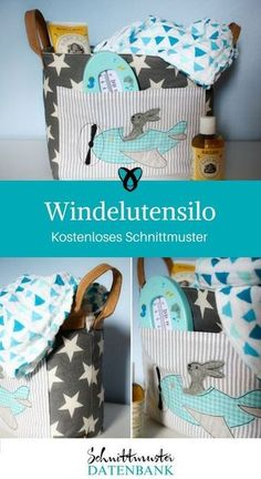Windelutensilo Diaper bag silo Utensilo for diapers Free sewing pattern Free sewing instructions Record of Knitting Yarn rotating, weav. Baby Knitting Patterns, Sewing Patterns Free, Knitting Designs, Free Sewing, Embroidery Patterns, Pattern Sewing, Sewing Tips, Knitting Yarn, Sewing Ideas