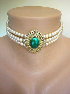 Downton Abbey Jewelry Great Gatsby Jewelry by CrystalPearlJewelry, $77.00