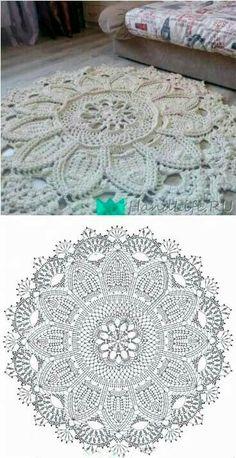 Crochet Doily Rug, Crochet Square Blanket, Gilet Crochet, Crochet Carpet, Crochet Home, Crochet Thread Patterns, Crochet Stitches For Beginners, Tapestry Crochet Patterns, Crochet Basics