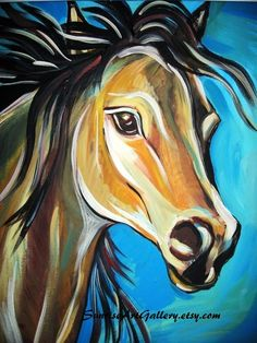 Horse Art Print 11x14 by PeacocksGallery on Etsy, $22.00