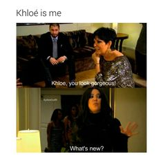 This why I love Khloé. She's hilarious! | Follow @itsmikka (on pinterest) for more.