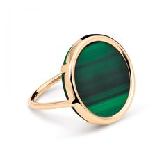 18 carat rose gold and malachite ring by Ginette NY http://amzn.to/2srmb87
