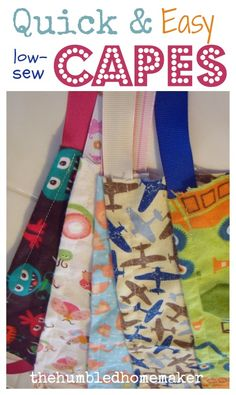 Quick & Easy Capes for Kids - The Humbled Homemaker