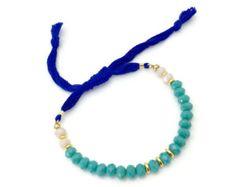 Beaded Bracelet / Friendship Bracelet/ Adjustable Bracelet / Blue Green Bracelet / Layering Bracelet / Bohemian Bracelet / Women Bracelets