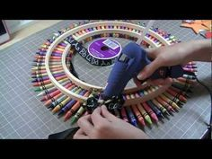 Crayon Wreath and Tutorial - YouTube