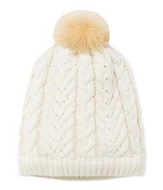Gorro de lana para niña beige Coquille   amarillo Lurex Dore. Descubre  nuestra gama de 92a9d4a749a
