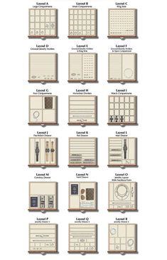 Jewlery Safe - 19 jewelry drawer insert options so that you can organize your jewelry your way. Plus, all inserts are interchangeable so you can swap interiors from drawer to drawer and easily change inserts as your jewelry collection grows.