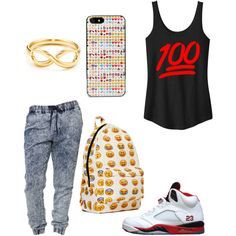 Easy outfit for school and its a cool phone case to match your outfit.