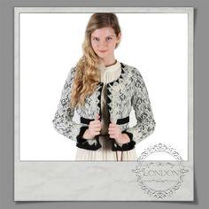 #Cropped #contrast #lace #jacket  https://www.facebook.com/londonboutiquechalandri/photos/pb.688879657843682.-2207520000.1418402102./816514811746832/?type=3&theater