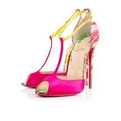 Christian Louboutin Spring/Summer Senora t-strap open-toe pumps T Strap Shoes, T Strap Sandals, Heeled Sandals, Shoes Sandals, Gladiator Sandals, Block Sandals, Floral Sandals, Stilettos, High Heels