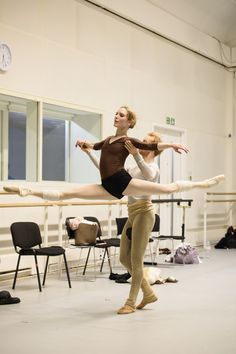 Sarah Lamb and Steven McRae in rehearsal for Christopher Wheeldon's Within the…