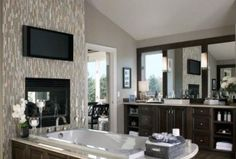 46 Luxurious Furniture To Upgrade Your Elegant Bathroom Diy Bathroom Remodel, Diy Bathroom Decor, Bathroom Renovations, Bathroom Ideas, Small Open Plan Kitchens, Open Plan Kitchen Living Room, Tiny House Bathroom, Dream Bathrooms, Master Bathrooms