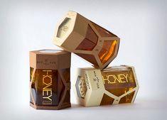 """""""Bee Raw"""" Honey Packaging by Derek Dubler, via Behance – Kawagraf Embalagens / Embalagem / Packaging / Design / """"Bee Raw"""" Honey Packaging by Derek Dubler, via Behance """"Bee Raw"""" Honey Packaging by Derek Dubler, via Behance Honey Packaging, Paper Packaging, Bottle Packaging, Honey Store, Honey Bottles, Honey Logo, Honey Label, Honey Brand, Food Packaging Design"""