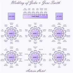 Wedding Seating Plan Template Reception Chart Arrangement