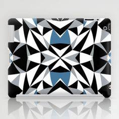 #abstract #kite #black #white #blue #geometric #projectm