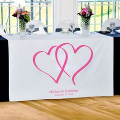 Opentip.com: Cathy's Concepts 1013 Love Collection Table Runners (2 Designs Available)