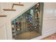 Just Rebel Wilson's new under-the-stairs wine cellar, nbd.