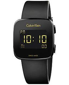 f5a75b06d5a Calvin Klein - Multicolor Men s Swiss Digital Future Black Rubber Strap  Watch for Men - Lyst
