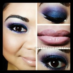 "Tiffany Villagracia says about her makeup of the day 11-14: ""makeup is all about experimenting and finding what makes you feel comfortable wearing. I love blue and purple eye shadows but for me it looks best when combined into a smokey eye."""