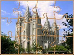 Temple Puzzle PDF printable--acitivity for primary sharing time, FHE, or singing time