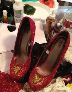 Homemade nerd shoes.