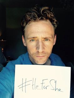 """""""@EmWatson you are impeccable & extraordinary. I stand with you. I believe in gender equality. #heforshe pic.twitter.com/xXQsyJ7WfP."""" Tom Hiddleston supports HeForShe."""
