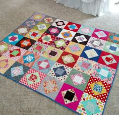notes of sincerity: easy square in square in square block tutorial. (lots of pictures)