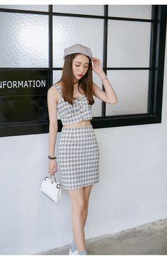 Korean fashion casual skirt cute suit