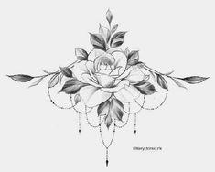 Dream Tattoos, Rose Tattoos, Flower Tattoos, Body Art Tattoos, Small Tattoos, Tatoos, Floral Tattoo Design, Flower Tattoo Designs, Tattoo Designs And Meanings