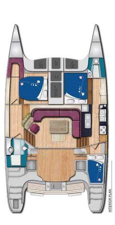 Seawind 1250 3 Cabin Galley Down Version
